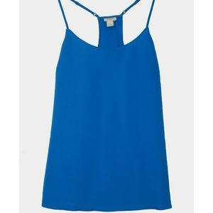 J Crew Racerback Cami Top in Blue
